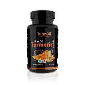 Golden Paste TurmOil Capsules With Turmeric, Flax Oil And Piperine - 90pk