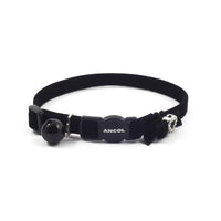 Ancol Velvet Heart Cat Collar Black