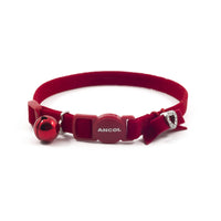 Ancol Velvet Heart Cat Collar Red
