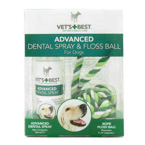 Vets Best Advanced Dental Spray 14ml & Rope Ball Kit