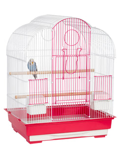 Liberta Virginia Pink & White Bird Cage