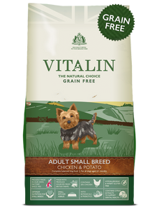 Vitalin Natural Adult Small Breed Chicken And Potato Grain Free 2kg