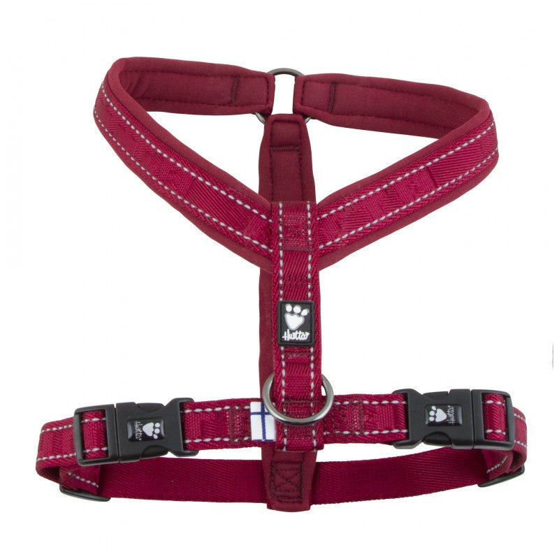 Hurtta Dog Active Y Harness Adjustable Pink Spaniel Frenchie Outdoors 70-80cm