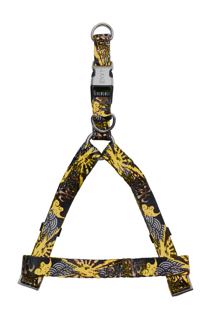 ENVY Sengoku Designer Dog Harness Yellow 46-75cm x 20mm