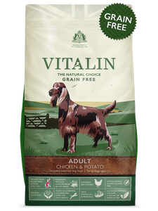 Vitalin Natural Adult Chicken And Potato Grain Free 2kg
