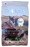Akela Dog Grain Free Suffolk Duck Medium Paws 1.5kg