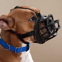 Baskerville Ultra Adjustable Dog Muzzle - Basket Style Training