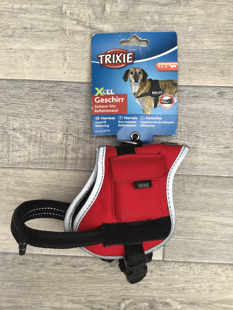 TRIXIE XDog Work Dog Style Saddle Shape Harness Reflective Padded XS-S: 25-45cm