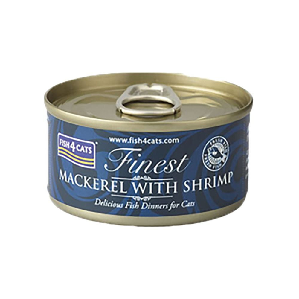 Fish4Cats Mackerel With Shrimp Cat Food Tin, 70g