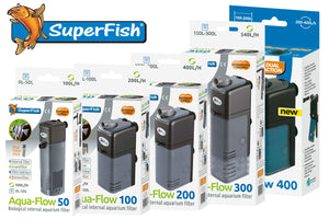 Superfish Aquarium Filter Aqua Flow 50 , 100 , 200 , 300, 400, XL Fish Tank Pump