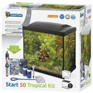 Superfish Start 50 Complete Tropical Aquarium Fish Tank Set 50L