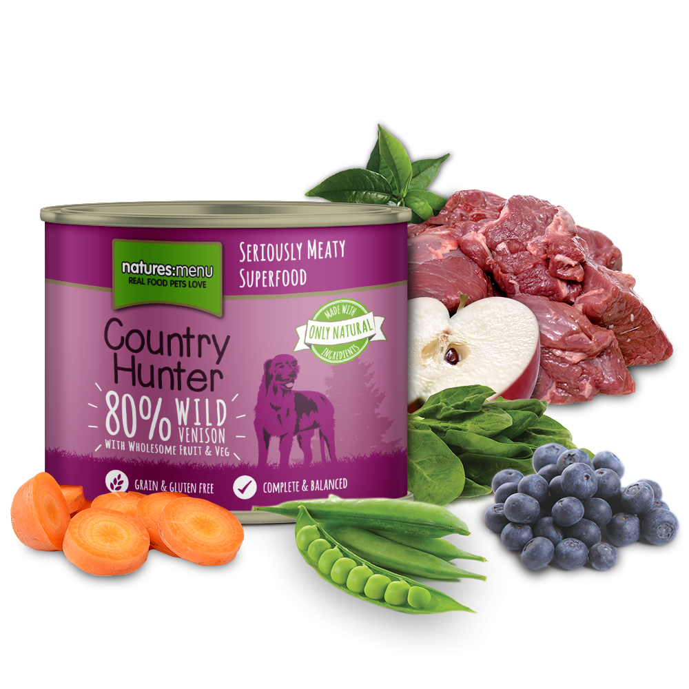 Natures Menu Country Hunter Venison With Blueberries Dog Can 600g
