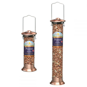 Walter Harrisons Copper Die Cast Peanut & Suet Feeder