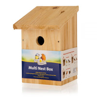 Wooden Nest Box Multi 25mm And 32mm Holes