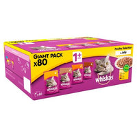 Whiskas Adult 1+Yrs Poultry Selection In Jelly Giant Pk 80 X 20g