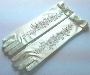 Communion Girls Long Gloves  ivory or white £10