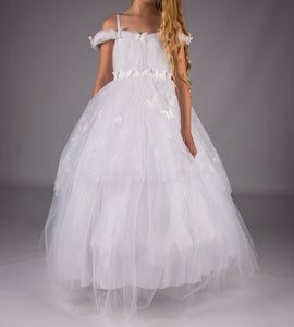 Girls Dress Fairy tale white communion flower girl £70 7-8/8-9/9-10/10-11/11-12 years