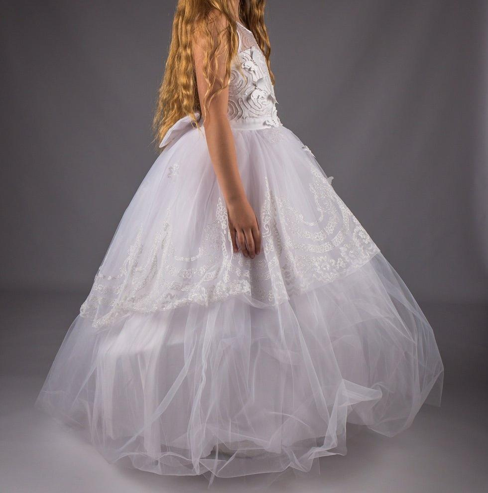 Girls white Dress Flower Girl Communion £70 7-8/8-9/9-10/10-11/11-12 years
