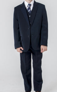 Boys 5 piece slim fit navy suit 4/5/6/7/8/9/10/11/12/13/14 years £50