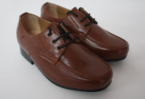 Stylish comfortable lace up formal shoes in brown for a boy for any occasion only £25