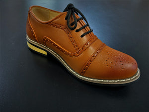 Boys Brogue style brown lace up shoes infant 3/4/5/6/7/8/9/10/11/12/13 Junior 1/2/3/4/5 £26