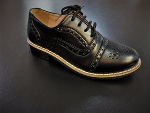 Boys black Oxford brogue style shoes infant 3/4/5/6/7/8/9/10/11/12/13 junior 1/2/3/4/5 £26