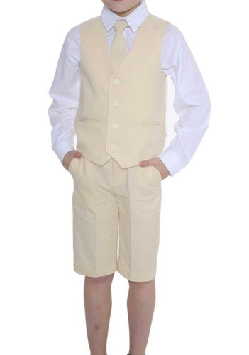 Boys Linen suit with shorts set £27 sand colour 0-3/3-6/6-9/9-12/12-18/18-24 months 2 3 years