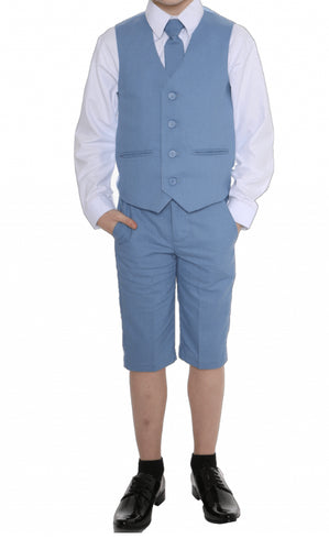 Baby Boys light blue linen suit with shorts £27 0-3/3-6/6-9/9-12/12-18/18-24 months 2 3 years