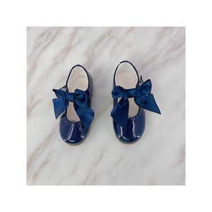 Baby Girls Midnight Blue Patent Bow Sandals Infant size 1-10 £20