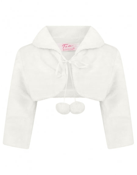 Baby girls Ivory Double Bobble Cropped Jacket newborn to 24 Months £14
