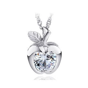 Sparkle Apple Silver Necklace