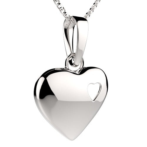 Small Heart Silver Pendant