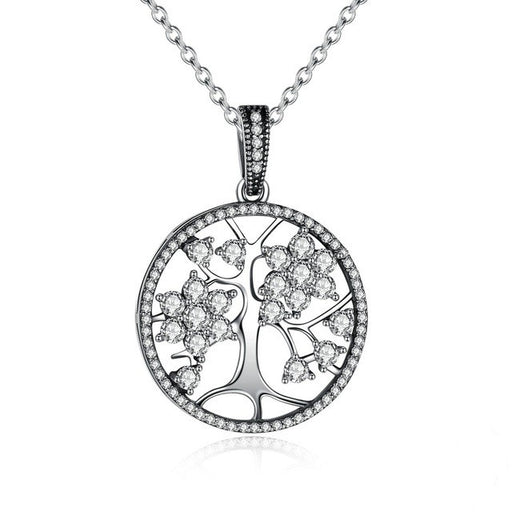 Sparkle Tree of Life Silver Necklace