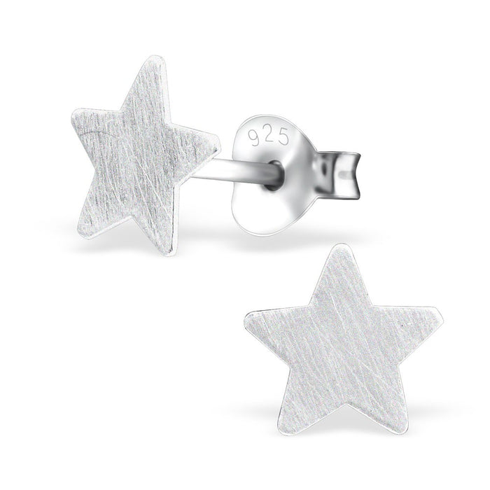Tiny Star Silver Earrings