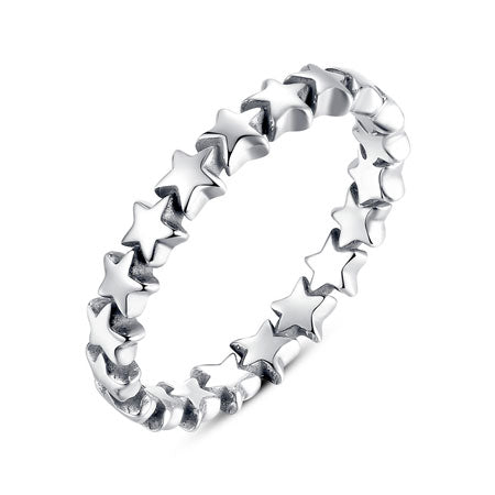 Silver Star Stacking Ring