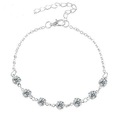 Cubic Zirconia Charm Anklet