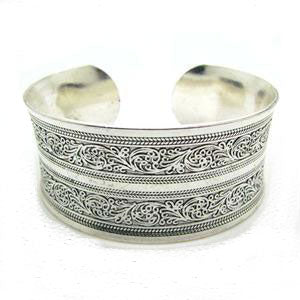 Boho Patterned Cuff Bangle