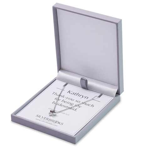 Bridesmaids silver star necklace personalised
