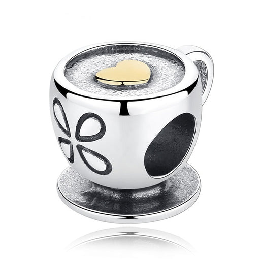 Coffee Lover Silver Charm