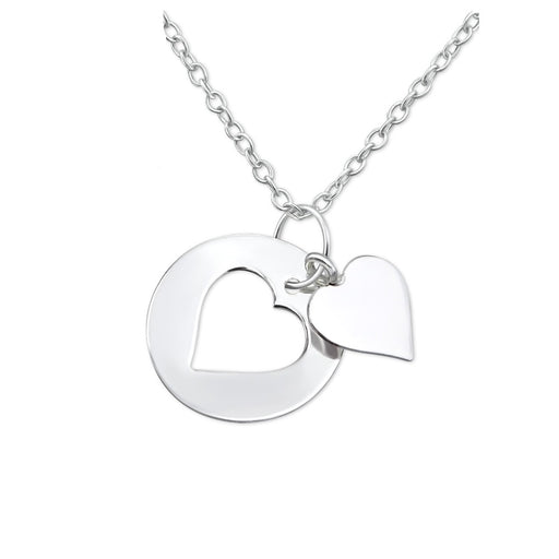 Floating Hearts Silver Necklace