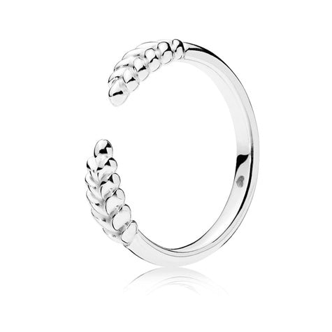 sterling silver women's open grains ring