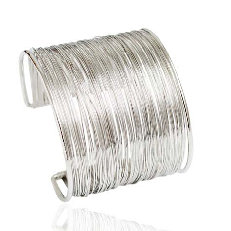 Wide Open Wire Cuff Bangle