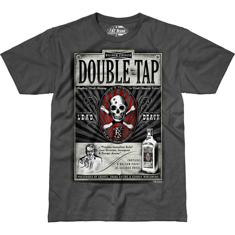 'Double Tap' 7.62 Design Premium Men's T-Shirt Charcoal