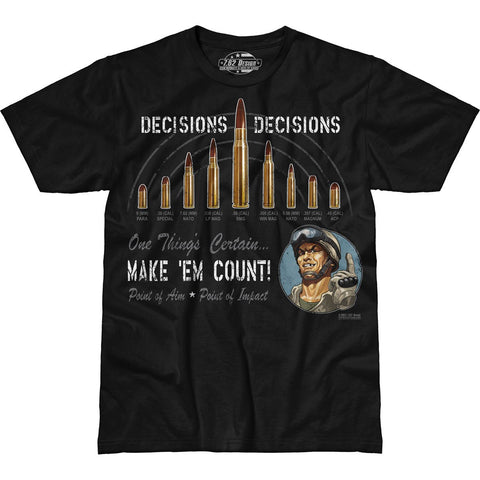 'Decisions, Decisions' 7.62 Design Premium Men's T-Shirt