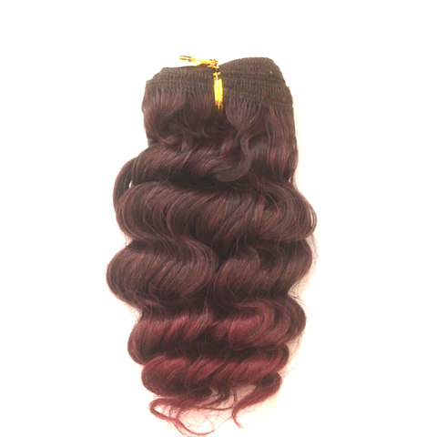 "LA Trend Human Hair Wet and Wavy French Weft 10"" - 2/130"