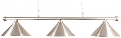 Pool | 3 Lamp Lighting Brushed Silver Finish BR1B