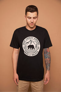 VALLEYS Tee Black