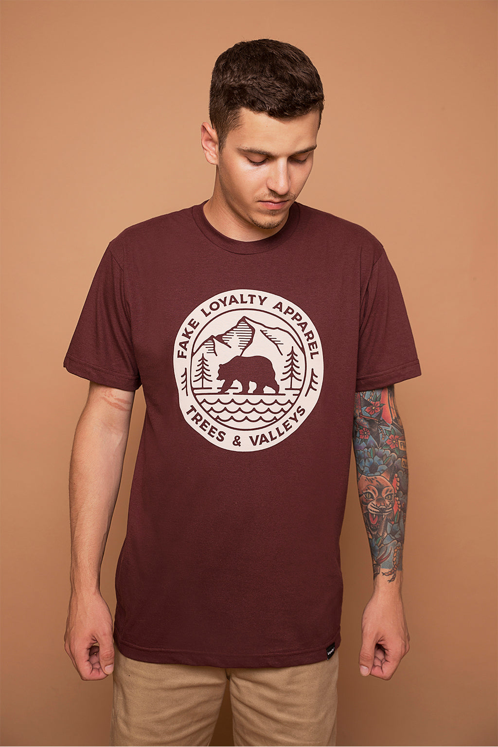 VALLEYS Tee Maroon