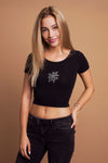 ROSE Crop Top Black