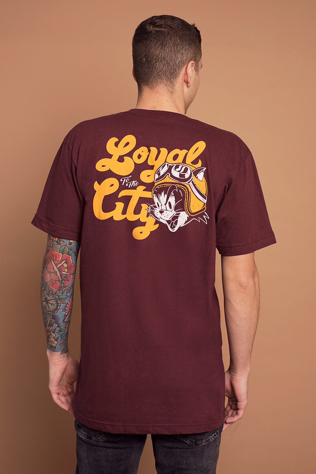 LOYAL Tee Maroon
